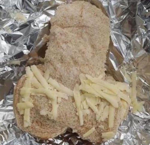 оригинальный сэндвич для мужа