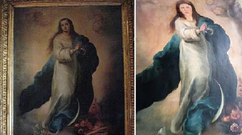 плохая реставрация картины