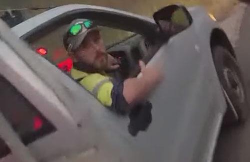 водитель заколол змею ножом
