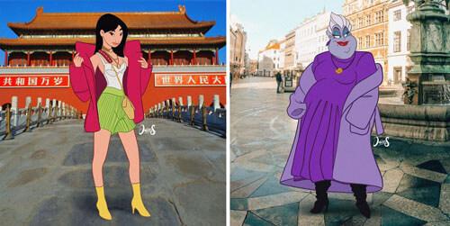 персонажей одели по последней моде