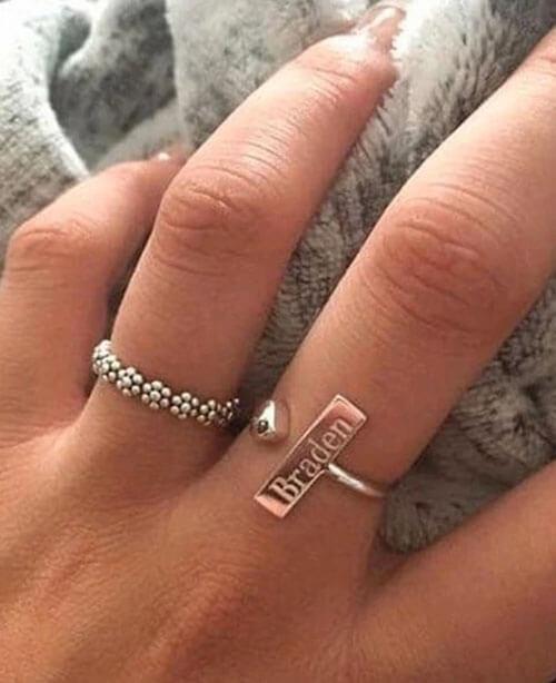 именное обручальное кольцо