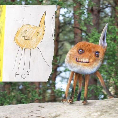 творчество с детскими рисунками