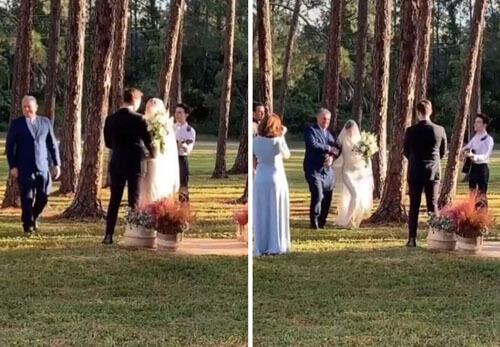 скромная свадьба из-за пандемии