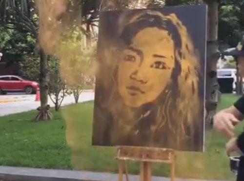 картина уличного художника