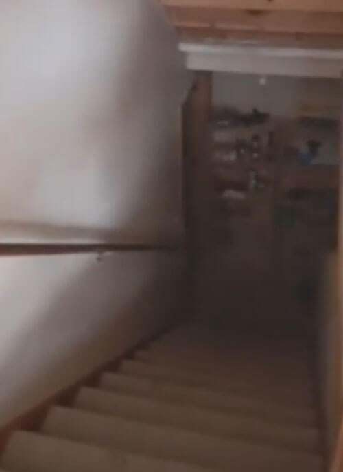 Ghost playing with door