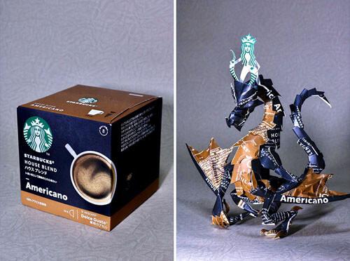 миниатюрные скульптуры из упаковок
