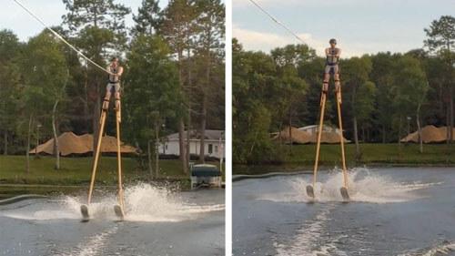 рекордное катание на водных лыжах