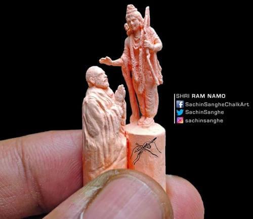удивительные скульптуры из мела