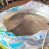стирка в надувном бассейне