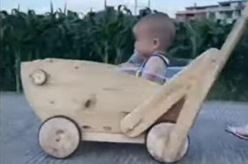 оригинальная самодельная коляска