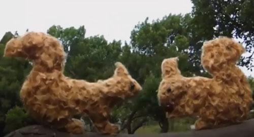 фигурки животных из мусора