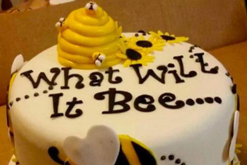 голубой торт для вечеринки