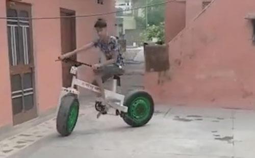 велосипед сделанный отцом