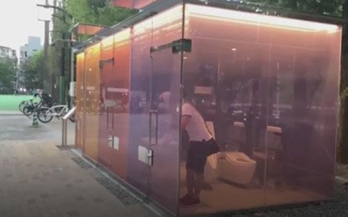 туалеты с прозрачными стенами