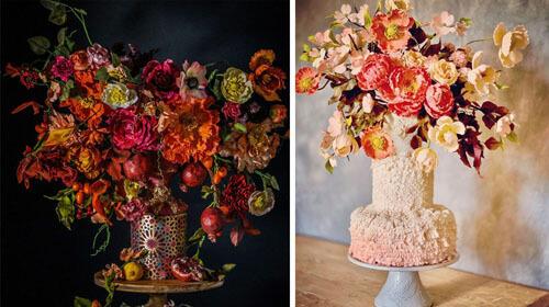 торты похожи на букеты цветов