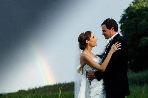 гром и молния во время свадьбы