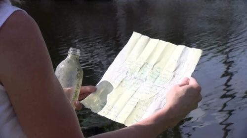 найденное письмо в бутылке