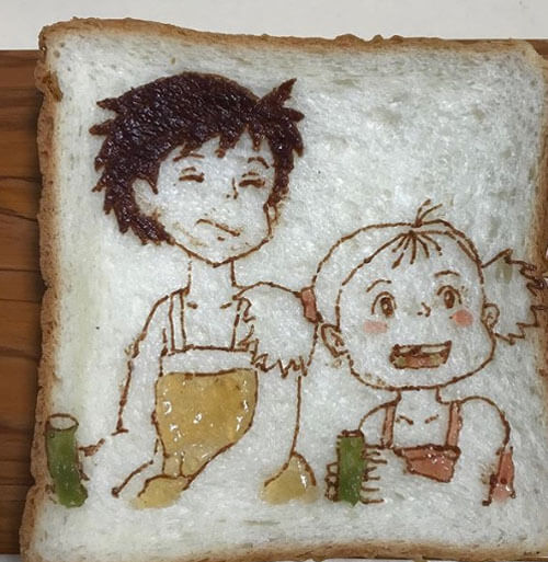 красивые рисунки на бутербродах