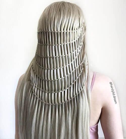 удивительные замысловатые причёски
