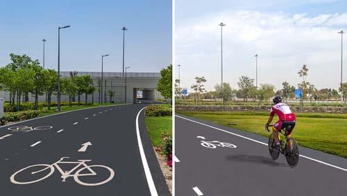 длинная велосипедная дорожка