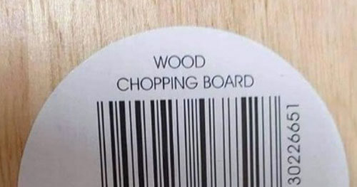 purchased cutting board