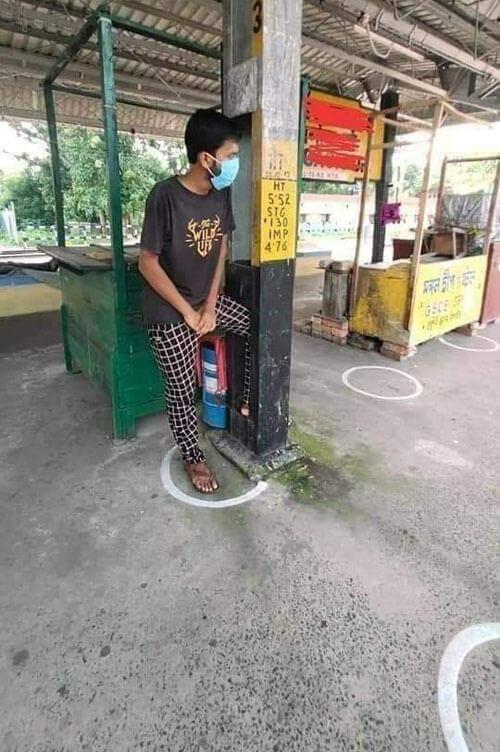 неудобные круги на станции