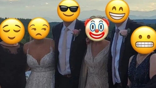 mother of the groom in a wedding dress