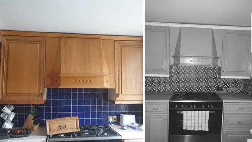 чёрно-белый ремонт в кухне