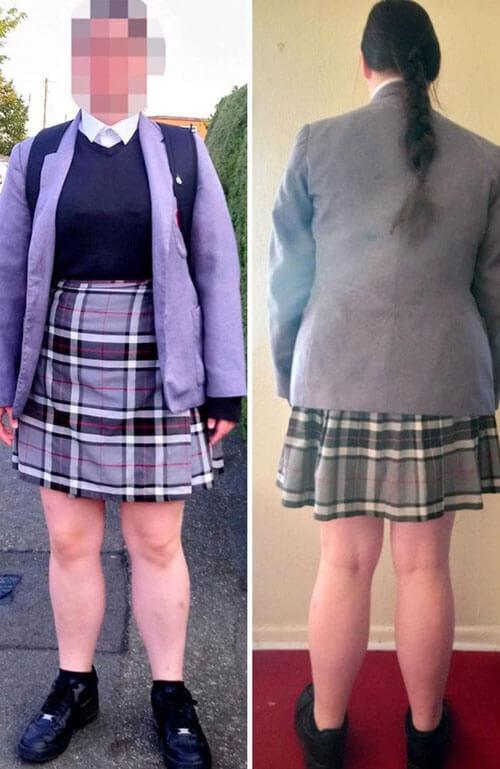 слишком короткая юбка ученицы