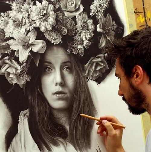 реалистичные карандашные портреты