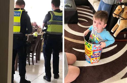 мальчик застрял в жестяной банке