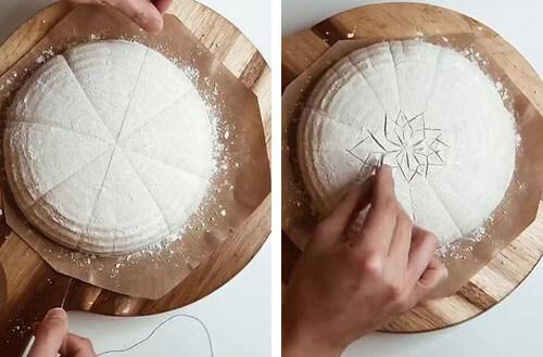 пекарь показал как украсить хлеб