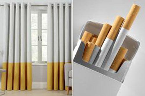 сигаретный дизайн штор
