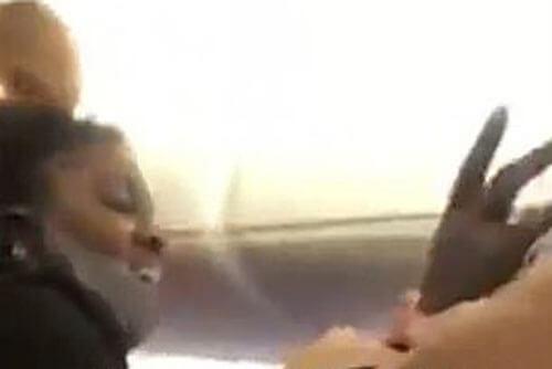 истерика пассажирки самолёта