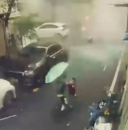 ресторан неожиданно взорвался
