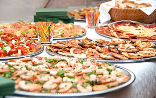 закуска для свадебных гостей