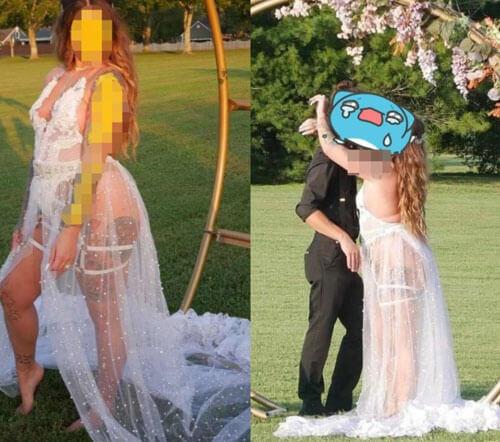 невеста в нескромном платье