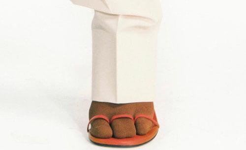 носки с тремя пальцами
