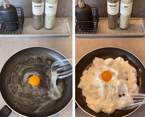 как сделать пушистую яичницу