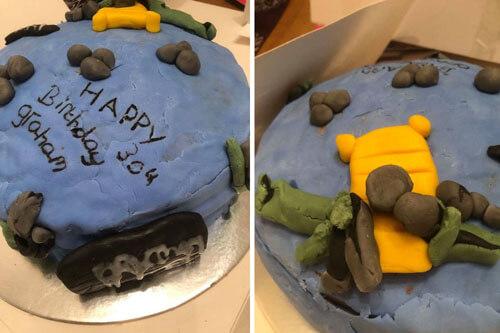 ужасный профессиональный торт