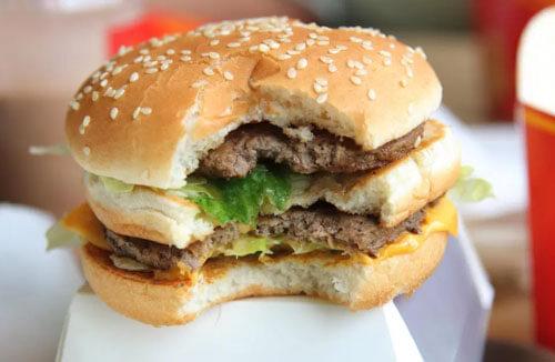 удалённые ингредиенты гамбургера