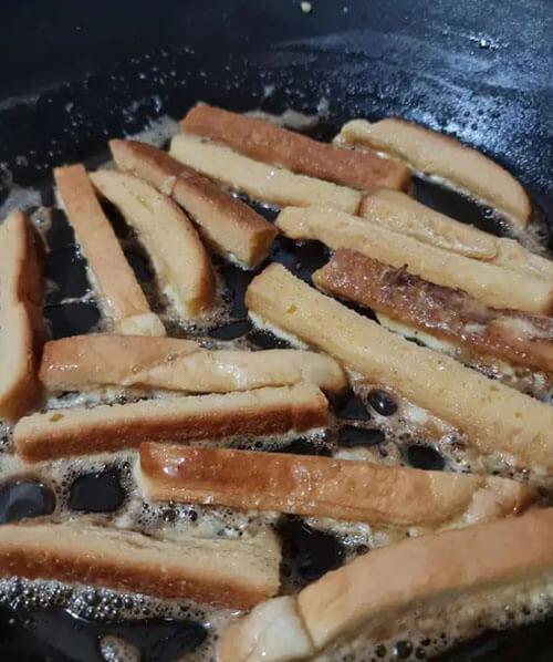 закуска из хлебных корочек