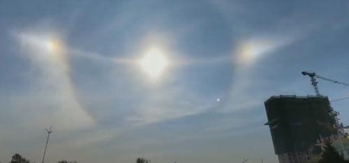 оптический эффект с солнцем
