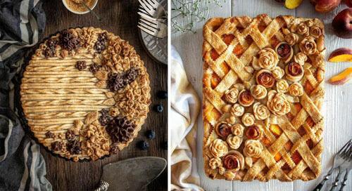 мастерица печёт красивые пироги