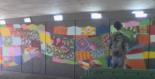 фрески в стиле лоскутного шитья