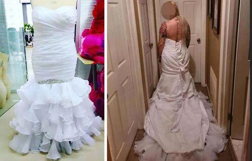 платье вывернутое наизнанку