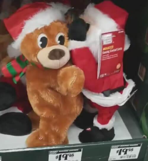 неприличный санта-клаус в магазине