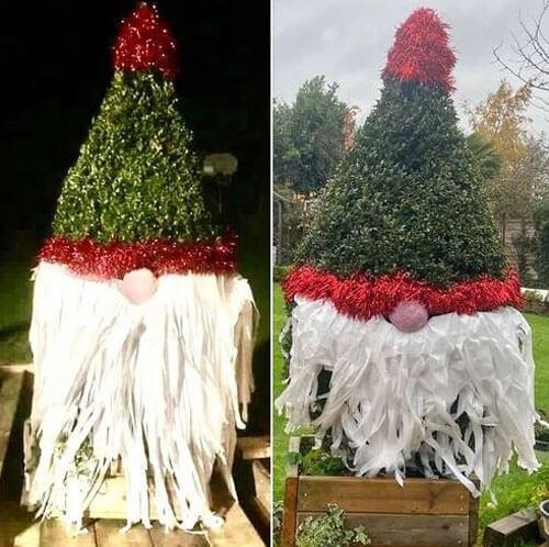 грубое рождественское украшение