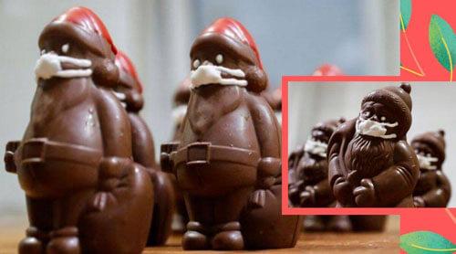 шоколадные санты в масках