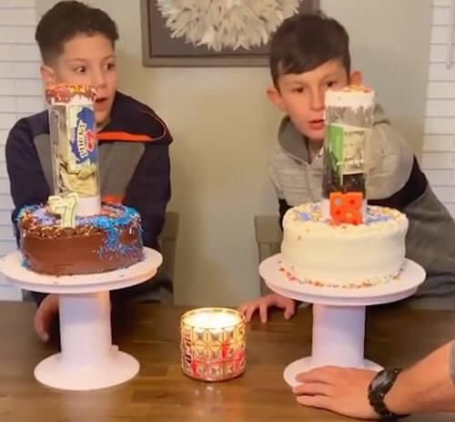 подарок спрятан в торте